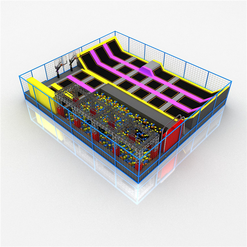 Gymnastic Commercial Indoor Trampoline Park with Ninja Course for Sale