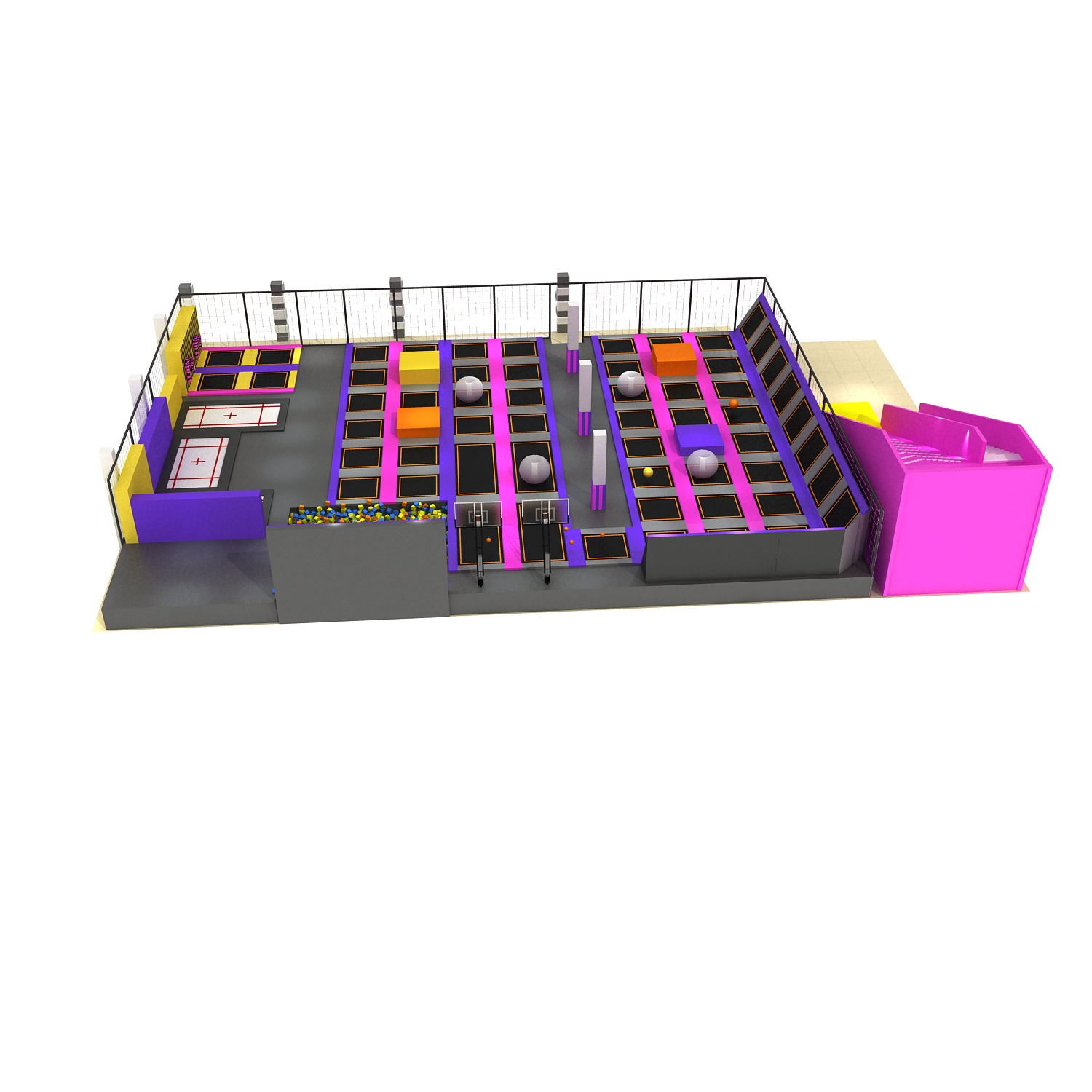 Wholesale Large  Bounce Trampolines With Foam Pit