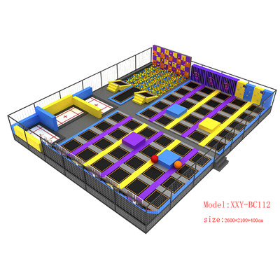 Indoor Commercial Super Trampoline Park Los Angeles
