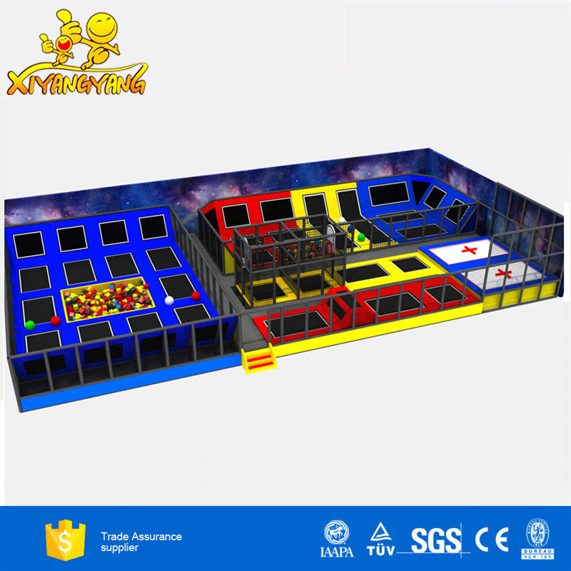 Safety commercial trampoline park equipment big cheap indoor trampoline for sale
