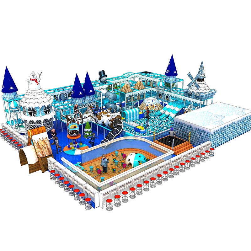 2019 new style commercial ice theme kids children indoor playground for sale