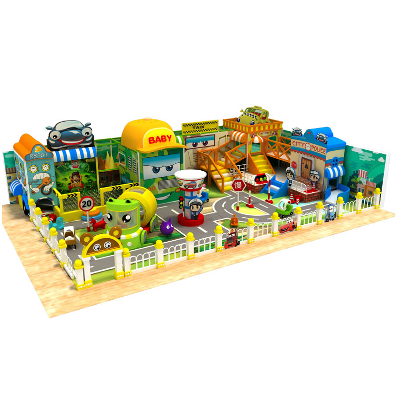 Factory custom New style indoor playground mini traffic town for kids