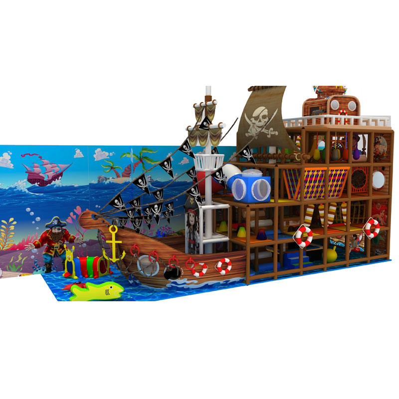 Pirate ship style kids indoor playground equipment prices