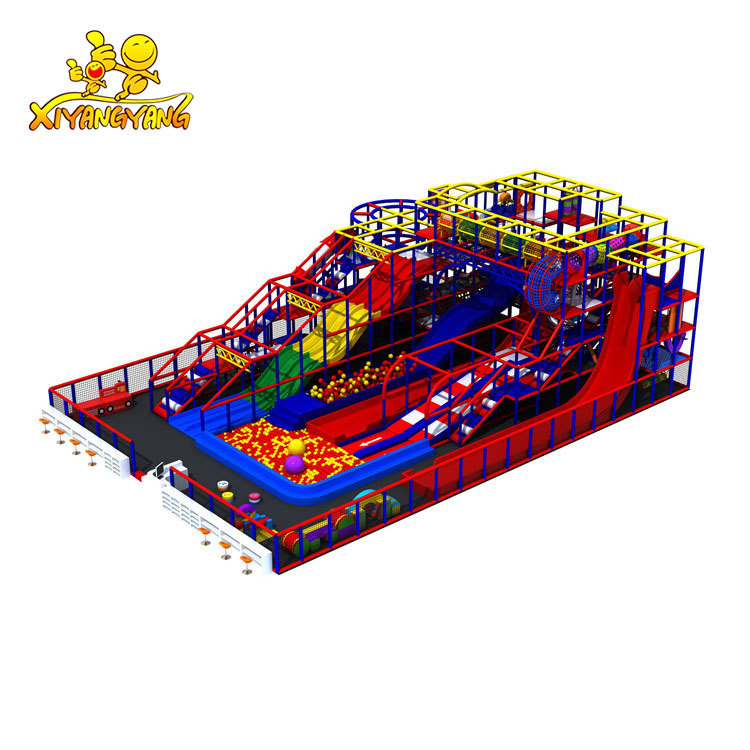 Hot sales customized indoor playground amusement equipment with slides