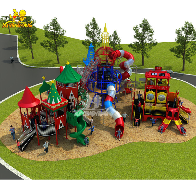 China high quality kids toy outdoor playground equipment large LLDPE plastic tunnel slide for sale