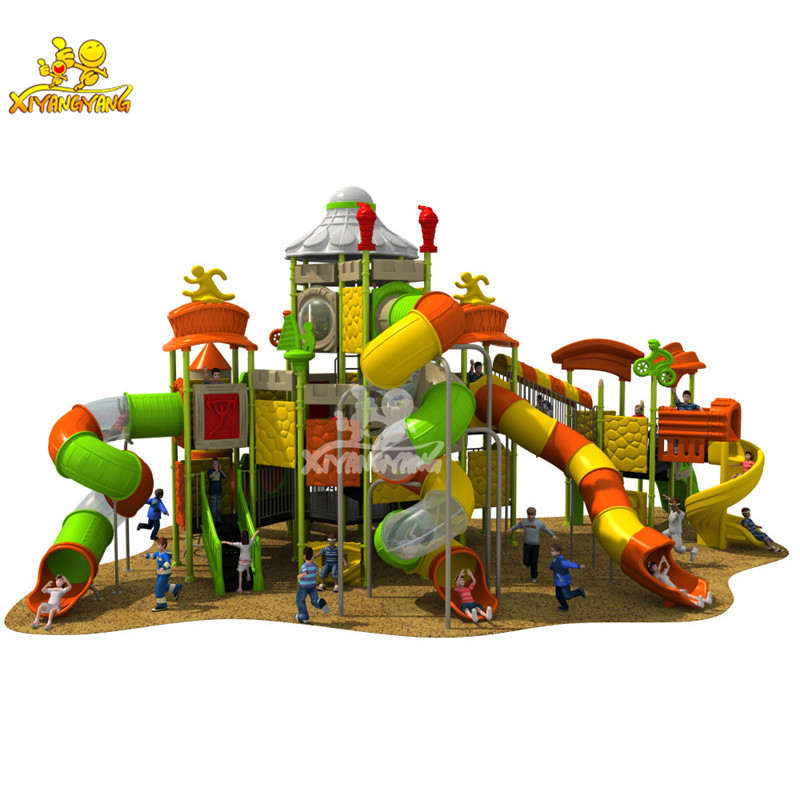 Kids Play Area Amusement Park Equipment Plastic Outdoor Playground