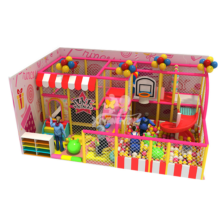 30 sqm new colorful candy theme indoor playground for sale