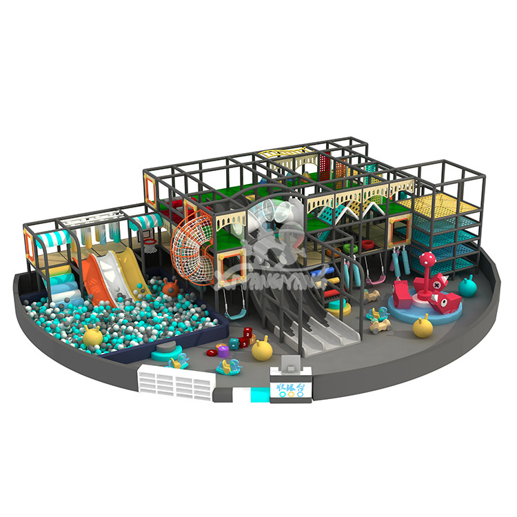 Kids big play park indoor naughty fort play area children rope net adventure indoor playground equipment for sale