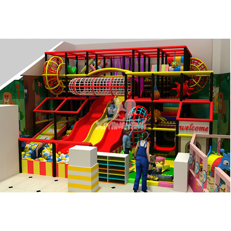 New arrival high level colorful web platform indoor playground with baby area for sale