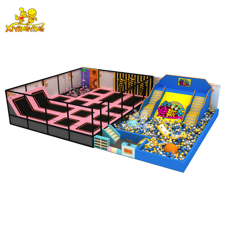 Manufacturing customized cheap indoor big trampoline park